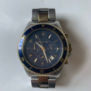 Michael Kors Chronograph Blue Face Dial Watch